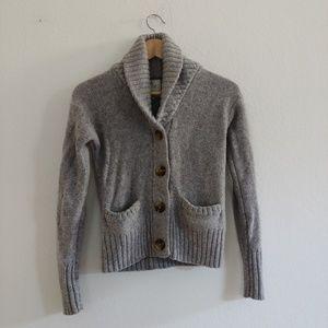 Gray Wool Cardigan